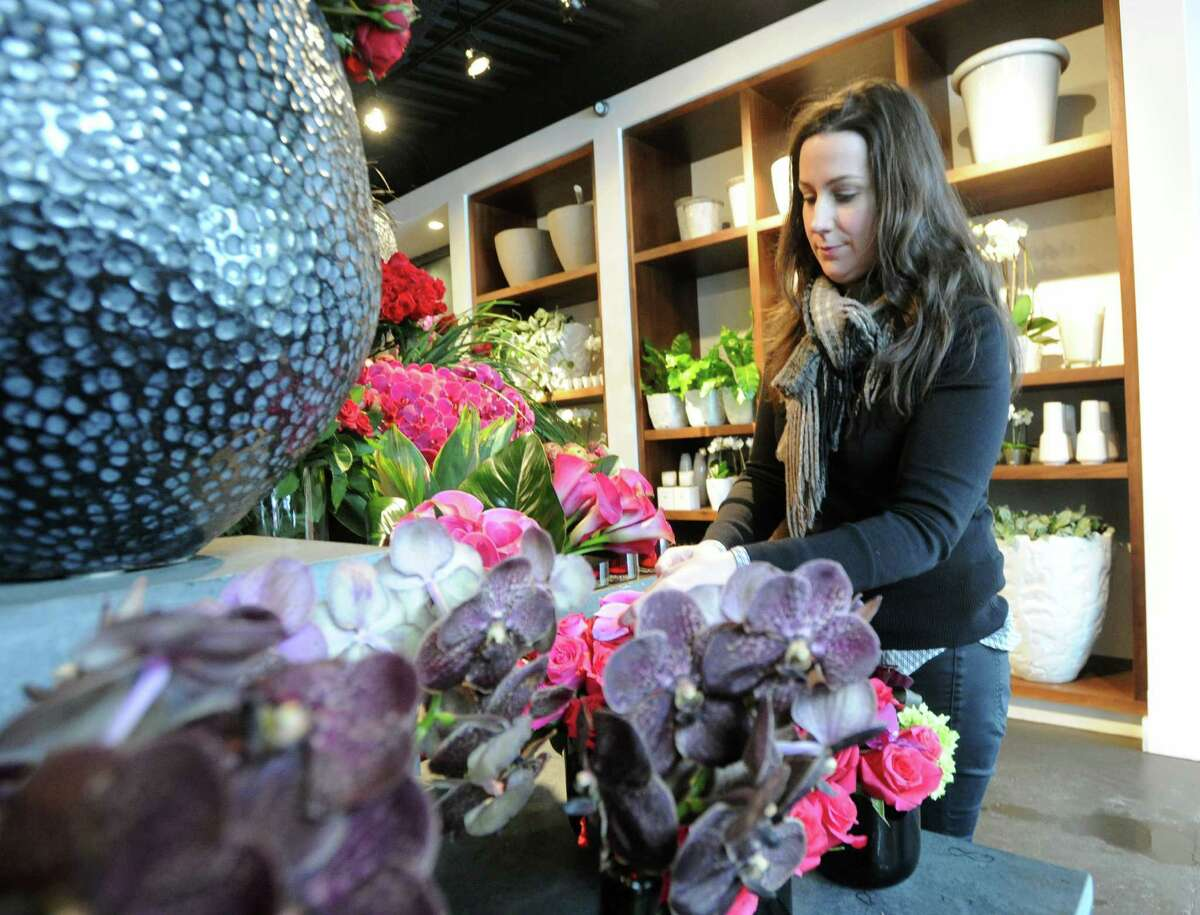 Julie Sullivan, the manager at Winston Flowers on Greenwich Avenue at the store in Greenwich, Conn., Thursday, Feb. 13, 2014. File Photo.