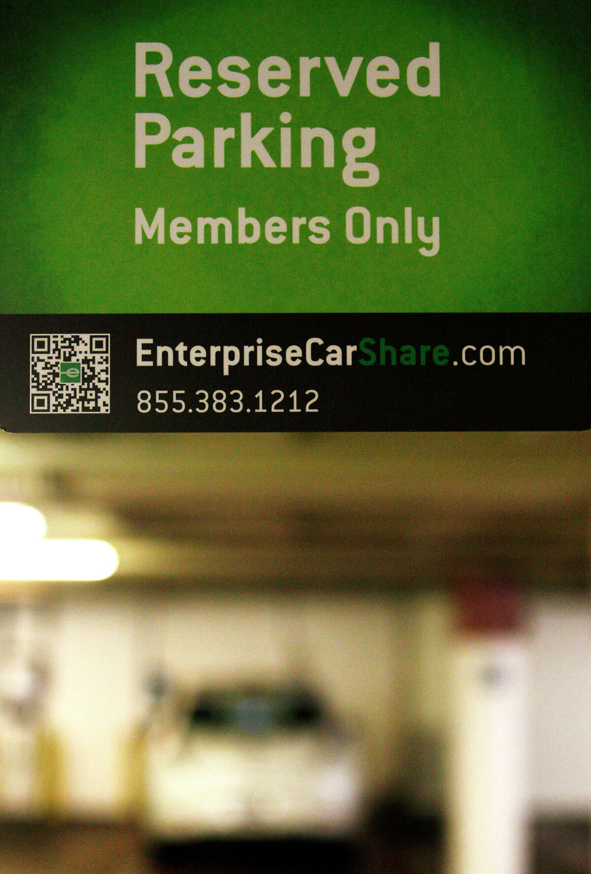 Enterprise uses St. Mary's Square Garage as a pickup and drop-off point for its CarShare vehicles. It is the latest service to begin operation in San Francisco.