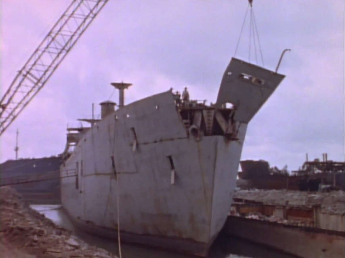 Before sinking, the George Vancouver was partially dismantled and fully cleaned.