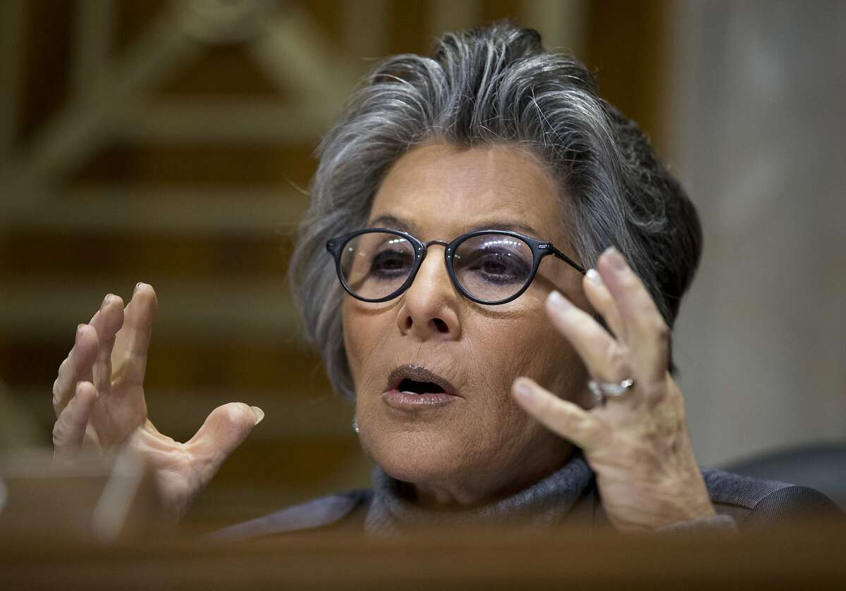 """Like Nancy Pelosi and Dianne Feinstein, Barbara Boxer represented residents of the Bay Area in Congress for over 30 years, beginning with a 10-year stint in the House of Representatives in 1983 and moving to the Senate in 1993. She retired in 2016 and said """"I want to come home."""" Among the highlights of her extensive career are authoring the Freedom of Choice Act of 2004, and she was a stalwart supporter of research for HIV/AIDS."""