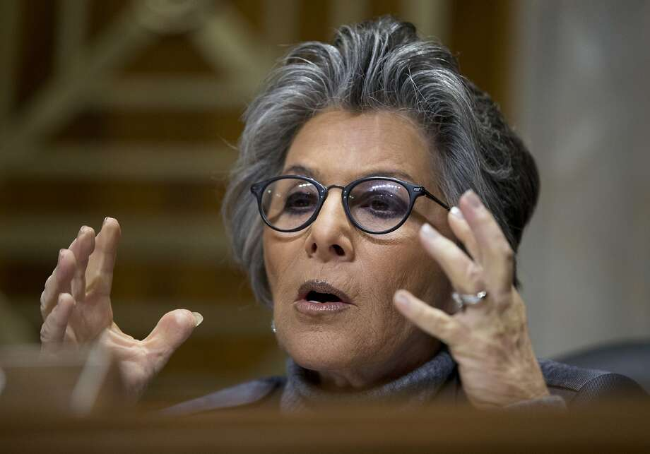 Senate Foreign Relations Western Hemisphere Subcommittee Ranking Member Sen. Barbara Boxer, D-Calif., questions witnesses during a hearing on Cuba on Capitol Hill in Washington Tuesday, Feb. 3, 2015.  Boxer defended the Obama administration after Sen. Bob Menendez complained that the U.S. won no concessions from President Raul Castro's government and demanded that Cuba extradite a woman convicted of killing a policeman from his state.  (AP Photo/Manuel Balce Ceneta) Photo: Manuel Balce Ceneta, Associated Press