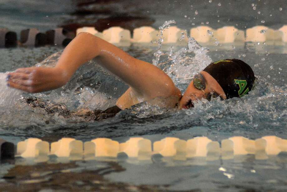 Awty junior Lauren Ward is among the medal hopefuls at the TAPPS State Swimming and Diving Meet. Photo: Jerry Baker, Freelance