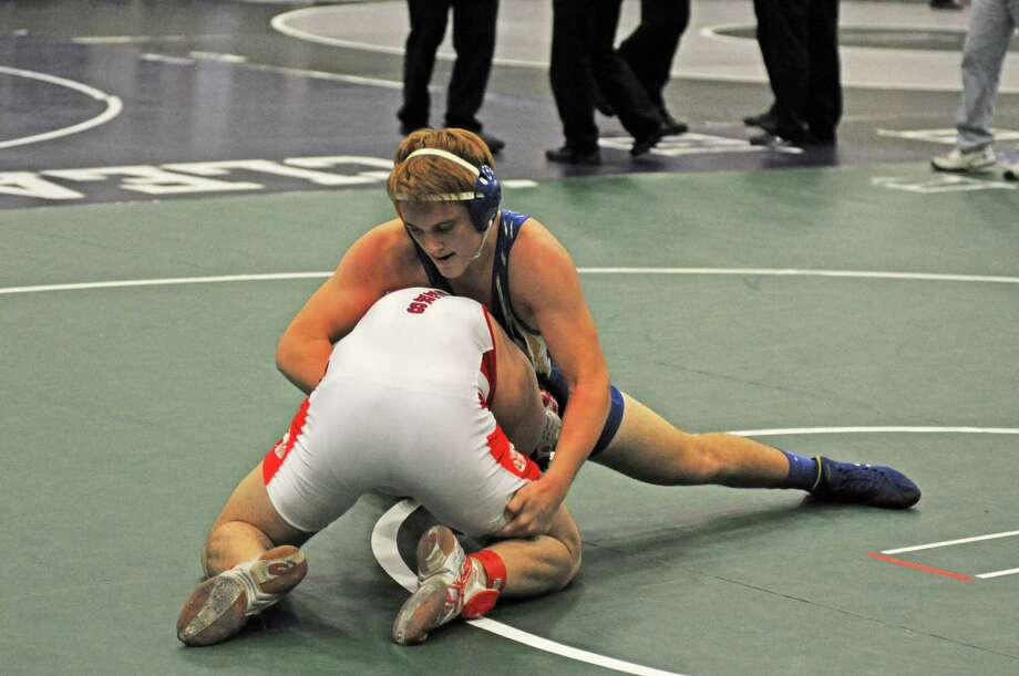 The state wrestling tournament will be Friday and Saturday at the Berry Center. Photo: L. Scott Hainline / freelance