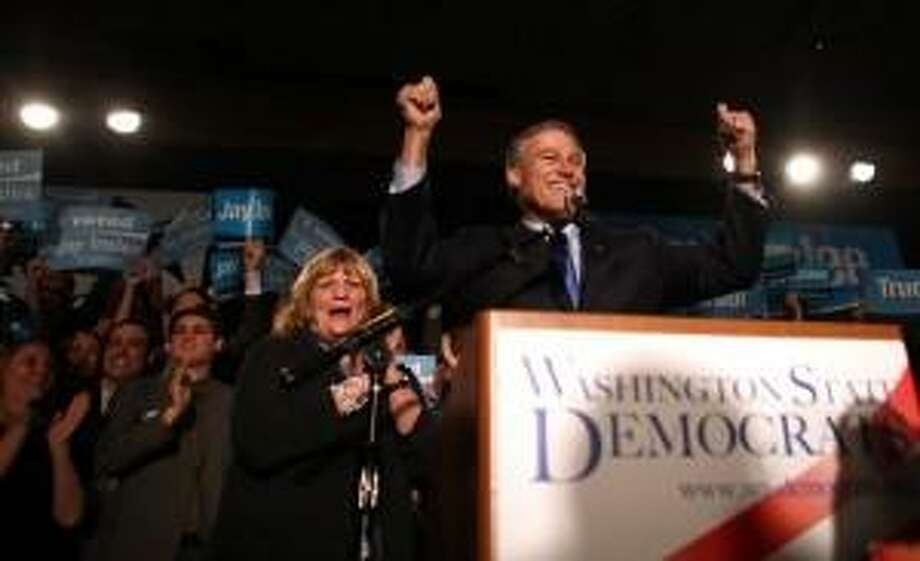 Gov. Jay Inslee claims narrow victory in 2012.  He is trying to be first Democratic governor to win three consecutive terms.