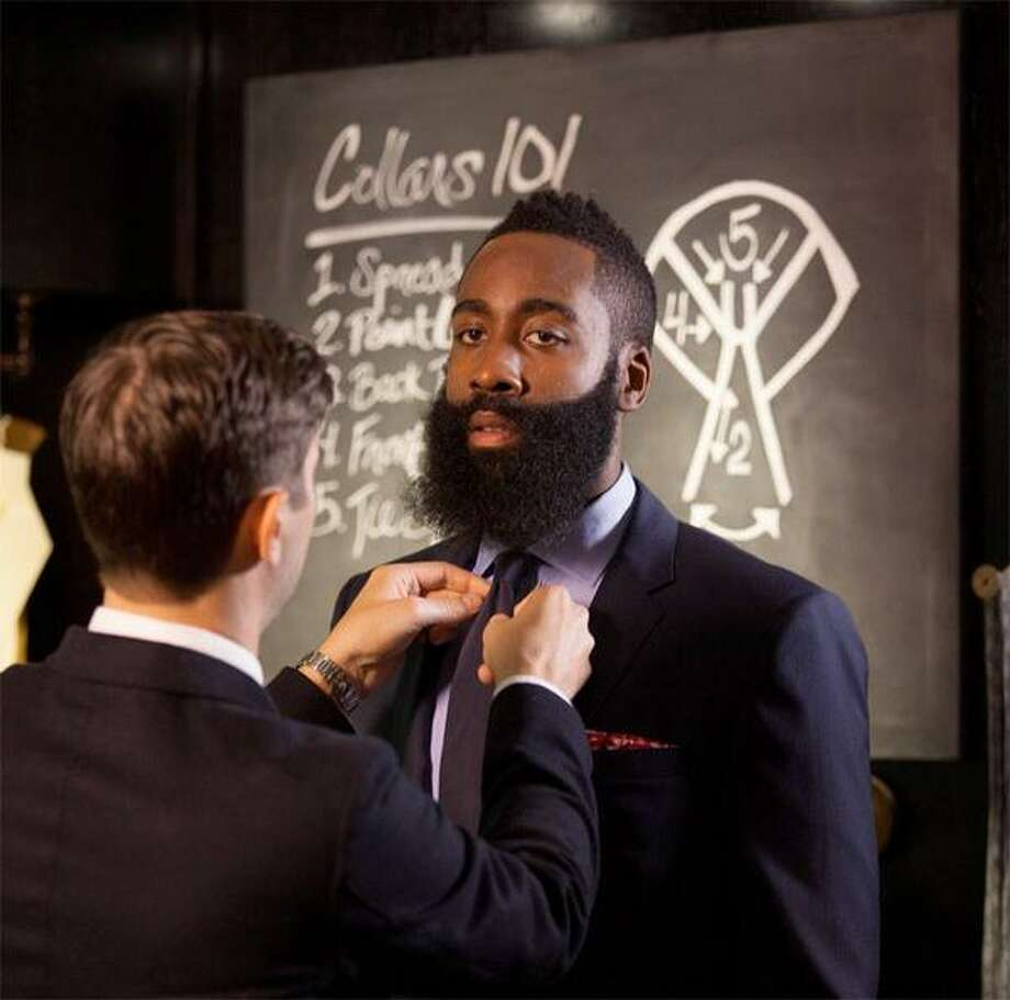 """Behind the scenes at my shoot with @Bloomingdales...more coming soon!"" -Via Twitter Photo: @jharden13"