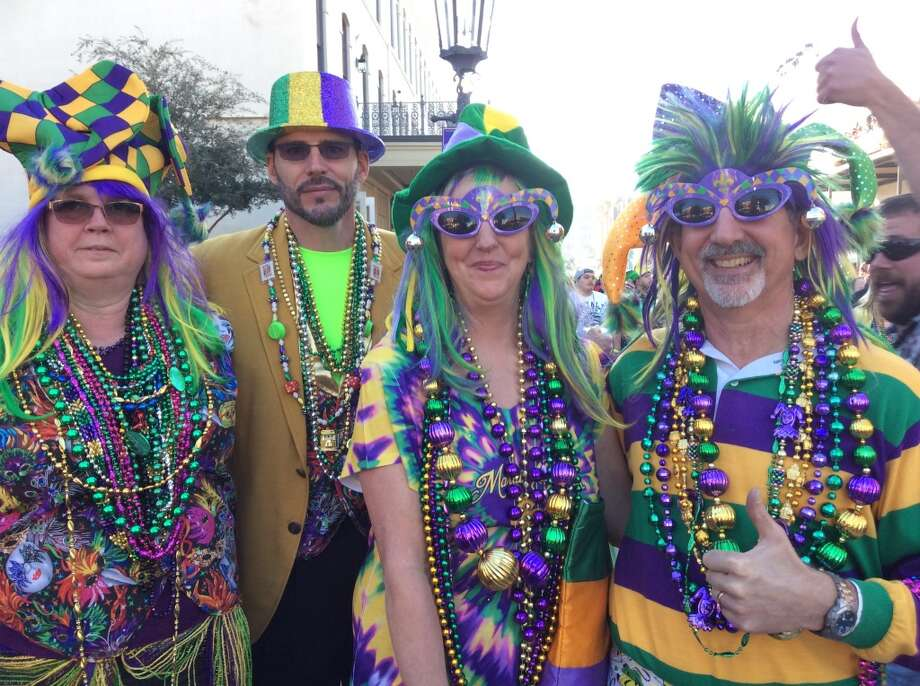 Feb. 2-13: Laissez les bon temps rouler during Mardi Gras in Galveston. Photo: Andrea Waguespack, Houston Chronicle