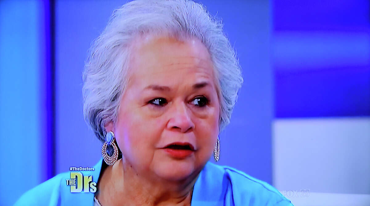 Elena Garcia talks about the death of her son, Hector Garcia Jr., and their battle with obesity on The Doctors television show on Feb. 11, 2015.