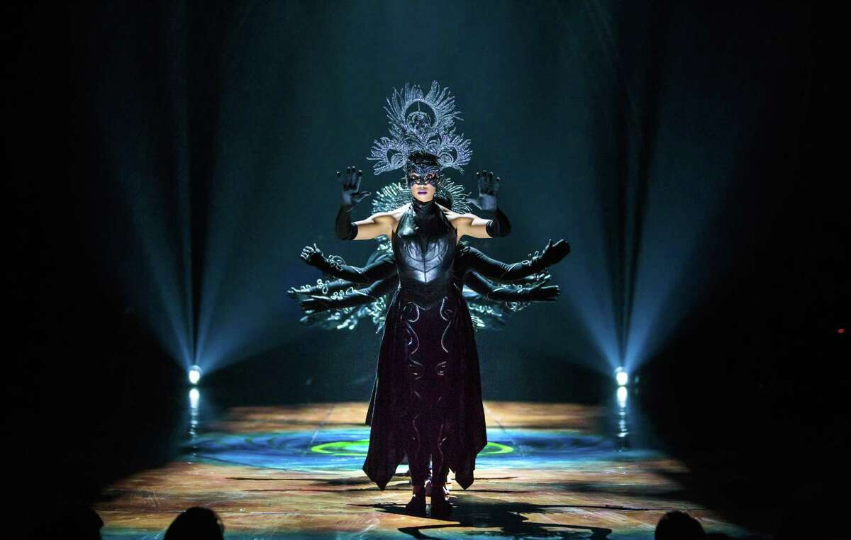 Amy McClendon leads an ominous troupe of dancers in Cirque du Soleil's