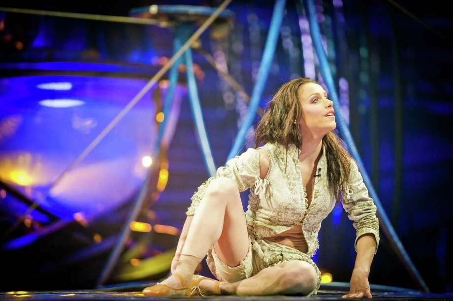 "Iuliia Mykhailova has the pivotal role of Miranda in ""Amaluna,"" latest of Cirque du Soleil's circus spectacles to reach Houston. Photo: Yannick Dery"