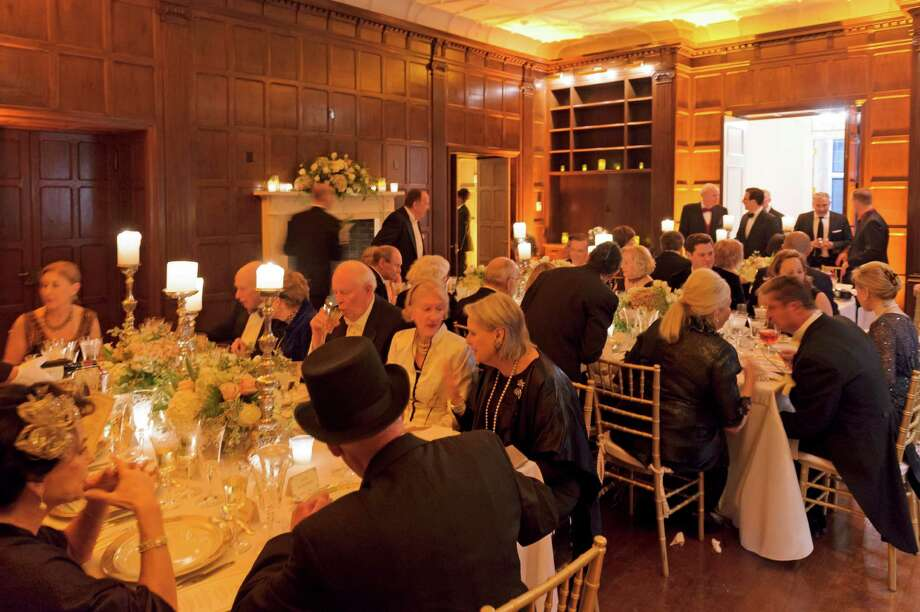 Guests at the Bruce Museum's Downton Abbey event enjoy the sophistication of a night in high society. Photo: Contributed Photo / Greenwich Time Contributed