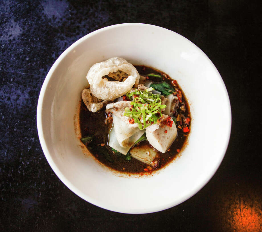 The boat noodles at Zen Yai Thai in San Francisco are enriched by few spoonfuls of blood stirred in at the end of cooking. Photo: Jonathan Kauffman / Jonathan Kauffman / The Chronicle / ONLINE_YES