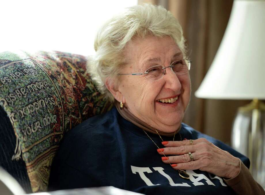 Joan Lawlor talks, with pride, about her granddaughter, UConn women's basketball player Tierney Lawlor, Wednesday, Feb. 11, 2015, at her home in Ansonia, Conn. Photo: Autumn Driscoll / Connecticut Post