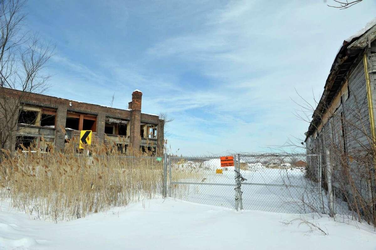 A view of the former Adirondack Steel mill on Wednesday, Feb. 11, 2015, in Colonie, N.Y. (Paul Buckowski / Times Union)