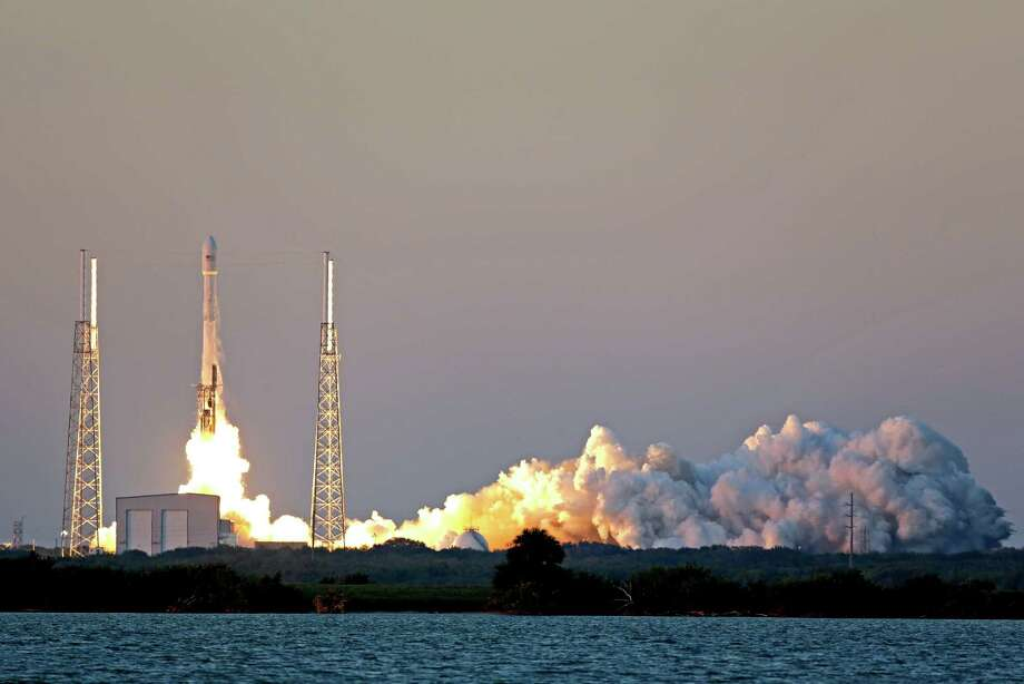 An unmanned Falcon 9 SpaceX rocket lifts off from Cape Canaveral Air Force Station in Florida on Wednesday. It carries the Deep Space Climate Observatory, which is heading to a destination 1 million miles away. Photo: John Raoux, STF / AP