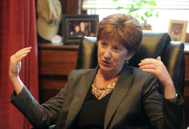 Albany Mayor Kathy Sheehan, shown in her City Hall office, has declined to say whether the Brighter Choice middle schools should stay open. The Brighter Choice Charter Middle School for Boys and the Brighter Choice Charter Middle School for Girls have received non-renewal recommendations from the SUNY Charter Schools Institute. (Michael P. Farrell/Times Union) Photo: Michael P. Farrell / 00028452A