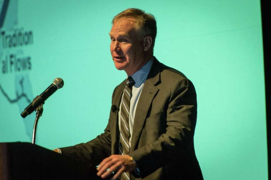 Alan Armstrong, CEO of the Williams Companies, speaks at   the North American Prospect Expo, a gathering of oil property buyers and sellers, on Feb. 11, 2015 at the George R. Brown Convention Center in Houston. Photo: Robert Grattan