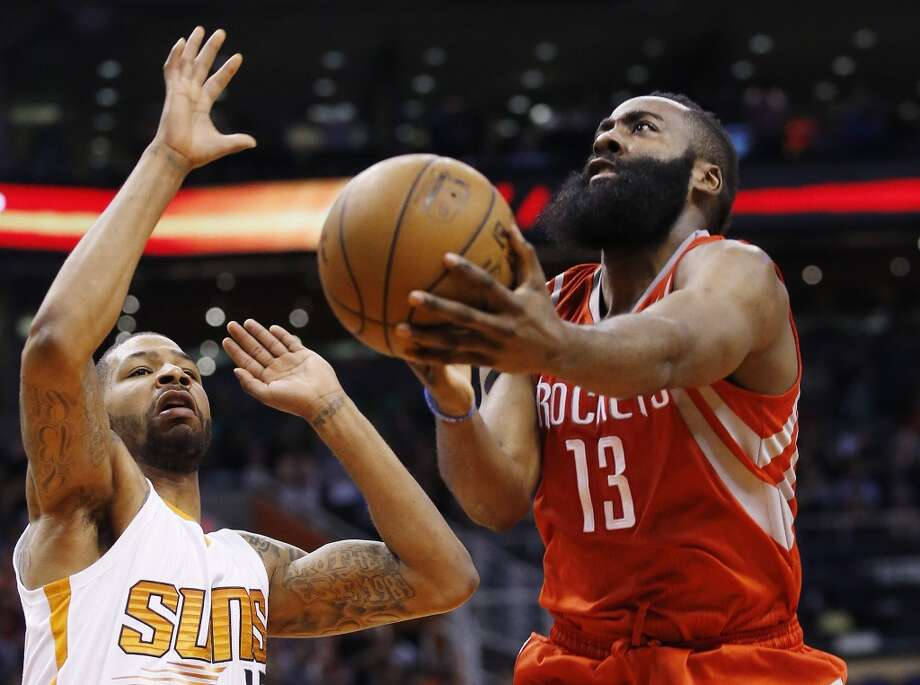 Feb. 10: Rockets 127, Suns 116   James Harden carried the Rockets to their 36th win of the season with another incredible stat line of 40 points, 12 rebounds and 9 assists.   Record: 36-16 Photo: Ross D. Franklin, Associated Press