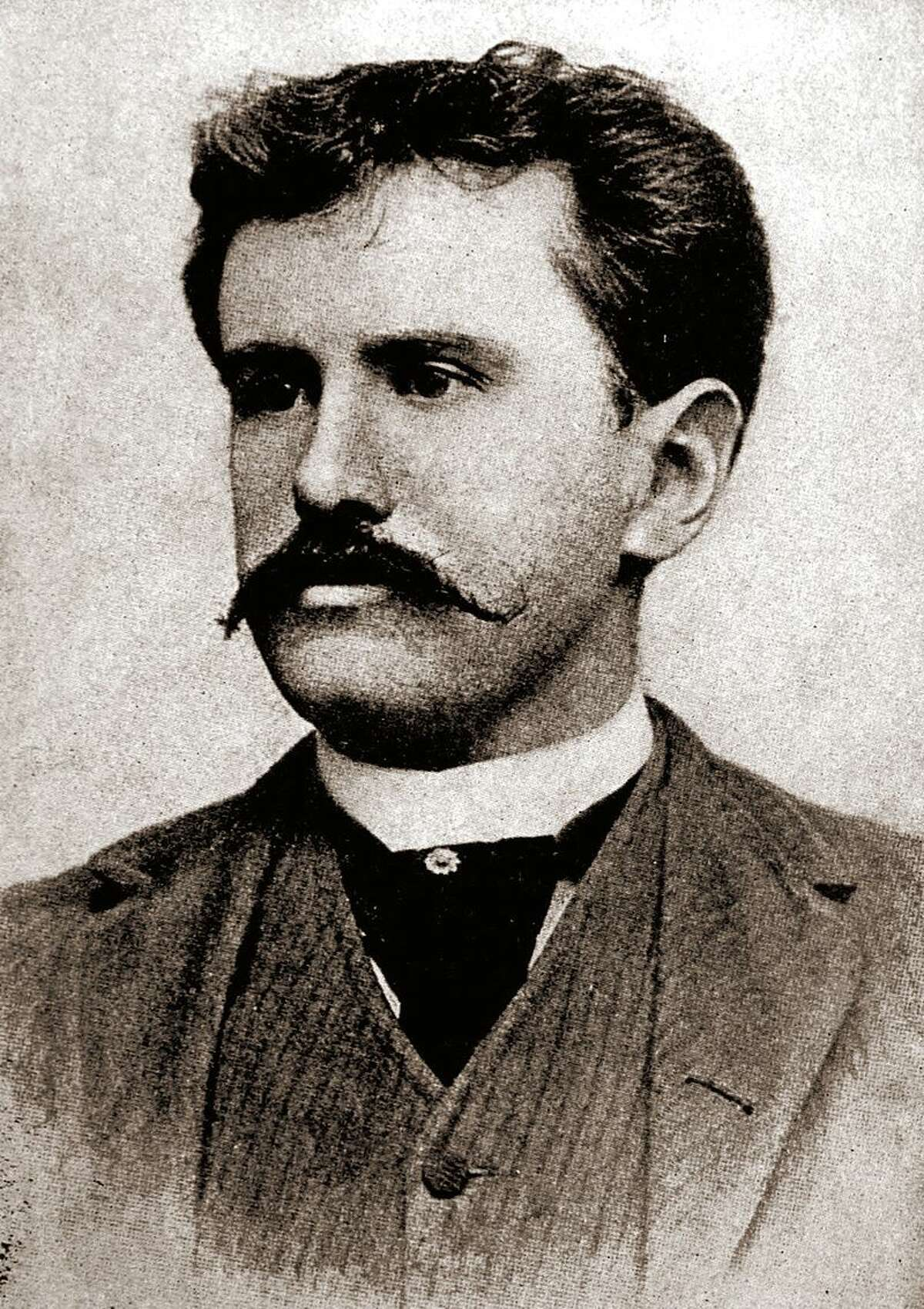 O.Henry in his 30s, around the time he lived in San Antonio. O. Henry was the pen name of writer William Sydney Porter, who wrote short stories about San Antonio and other subjects.