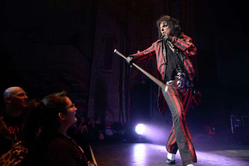 Alice Cooper performs during his