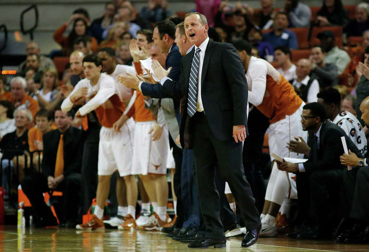 AUSTIN, TX - FEBRUARY 11: Head coach Rick Barnes of the Texas Longhorns reacts as his team plays the TCU Horned Frogs at the Frank Erwin Center on February 11, 2015 in Austin, Texas.