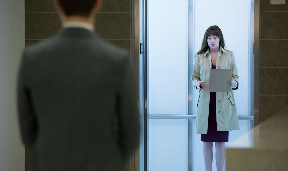 Jamie Dornan as billionaire Christian Grey (Jamie Dornan, left) and Dakota Johnson as curious college student Anastasia Steele give touching performances in