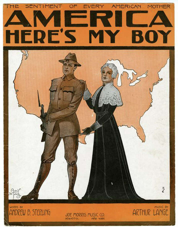 An example of a cover of sheet music shows the impact World War I had on music and vice versa. A group of Greenwich, Conn., musicians, including Greenwich resident Stefanie Kies, will be coming together for two performances, Feb. 26 and March 1, 2015, for a program that explores the art of the covers and importance of the music. The shows will be at the Greenwich Historical Society, where an ongoing exhibition about the war is ongoing. Kies lent some of her sheet music for the exhibition. Photo: Picasa, Contributed Photo / Stamford Advocate Contributed image