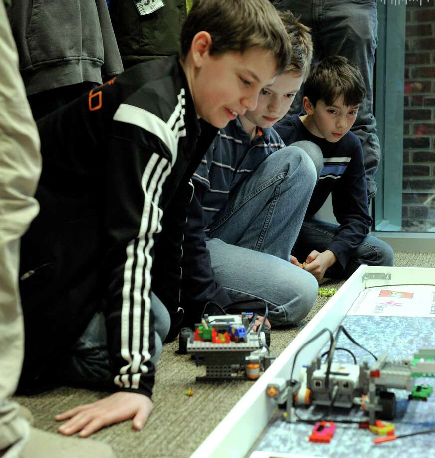 """Ridgefield Library held a celebration of technology, an extension of the """"Hour Code,"""" Saturday, February 7, 2015. Photo: Carol Kaliff / The News-Times"""