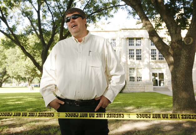 Willie Jessop, Yearning for Zion Ranch resident and spokesman for the Fundamentalist Church of Jesus Christ of Latter Day Saints talks briefly to the media before the grand jury proceedings at the Schleicher County Courthouse in Eldorado, Texas on July 22, 2008. A Texas grand jury indicted polygamist sect leader Warren Jeffs and five of his followers. Jeffs was charged with felony sexual assault of a child. Photo: ERICH SCHLEGEL, AP / The Dallas Morning News