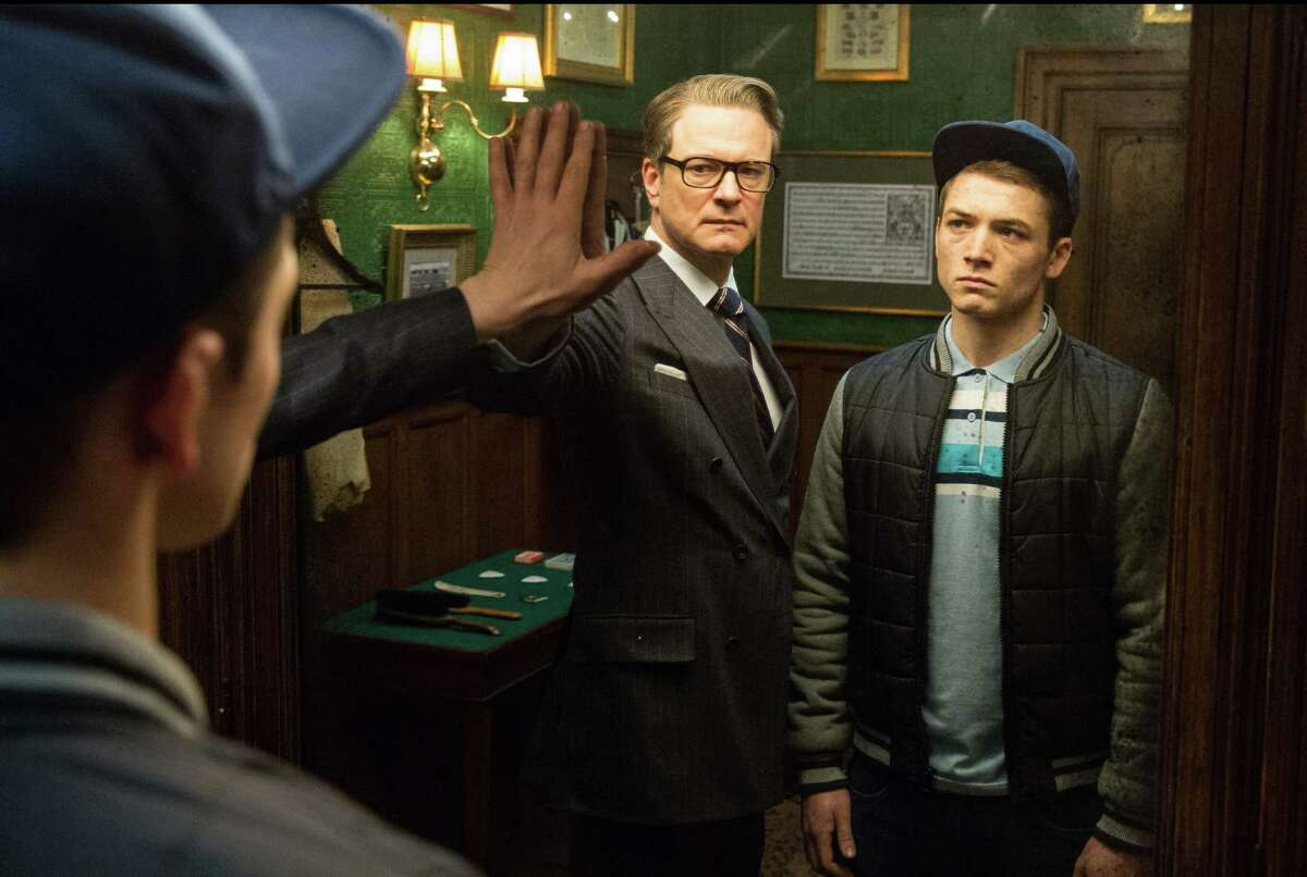 Colin Firth, left, and Taron Egerton star in