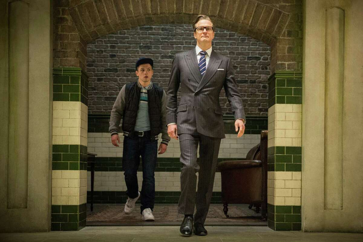Harry (Colin Firth), an impeccably suave spy, helps Eggsy (Taron Egerton) turn his life around by trying out for a position with Kingsman, a top-secret independent intelligence organization. (Photo courtesy 20th Century Fox/TNS)