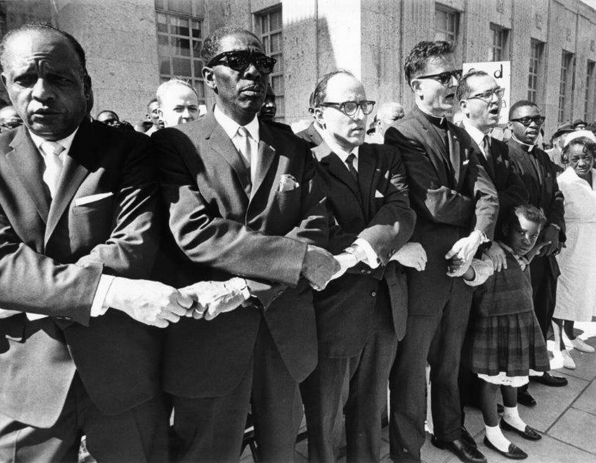 NAACP Houston 1965 Rev. Stevens, Rabbi Cahana and others just back from Selma.