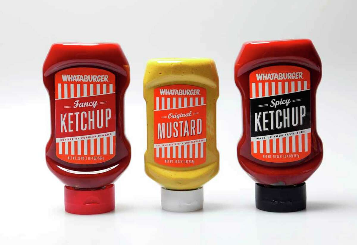 Whataburger Ketchup, Mustard, Spicy Ketchup are sold in stores since 2013.