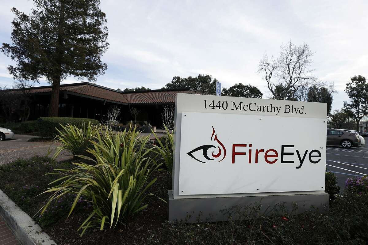This Wednesday, Feb. 11, 2015 photo shows FireEye offices in Milpitas, Calif. The fast-growing Silicon Valley cybersecurity firm was called in when big corporations like Sony Pictures, JPMorgan Chase, Target or Anthem suffered malicious hacks and data breaches that threatened their operations and reputations. (AP Photo/Ben Margot)