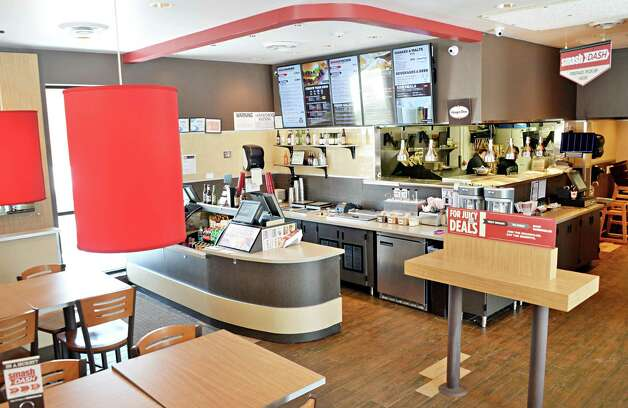 Interior of Smashburger on Wolf Road Wednesday Feb. 11, 2015, in Colonie, NY.  (John Carl D'Annibale / Times Union) Photo: John Carl D'Annibale / 00030530A