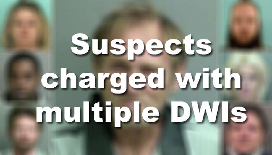 These suspects have been charged with three or more DWIs in or around Houston. Photo: Houston Chronicle