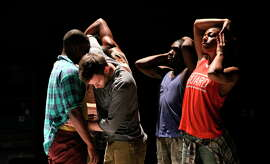 "A scene in Kyle Abraham's contemporary dance piece ""Pavement."""