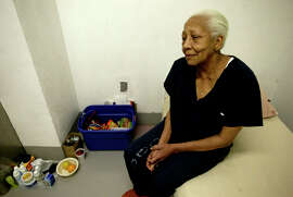 Doris Payne sits in her cell at Clark County Jail in Las Vegas in 2005. The international jewel thief is the subject of a 2013 documentary and was recently spotted cruising for bling in S.F.