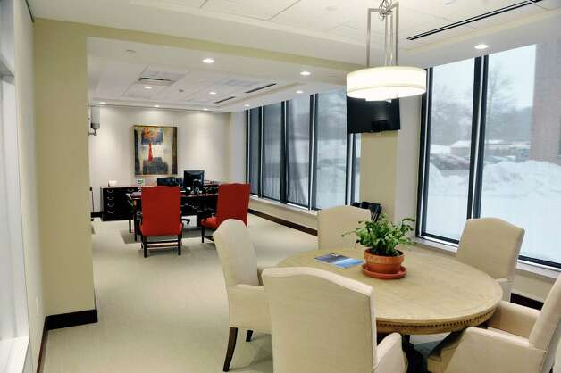 A view of the office of Ed Swyer, president of Stuyvesant Plaza inside the Executive Park Tower in the Stuyvesant Plaza Executive Park on Thursday, Feb. 12, 2015, in Guilderland, N.Y.  The building has gone through a multi-million dollar capital investment project which began in January 2013.  The building sits on 12 acres behind Stuyvesant Plaza, featuring 170,000 square feet of office space and on-site parking for over 1,000 cars.  (Paul Buckowski / Times Union) Photo: Paul Buckowski / 00030566A