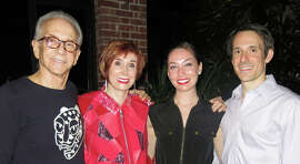 "Art collectors Norman (left) and Norah Stone hosted the rare performance of ""Singin' in the Rain (1996)"" by S.F. Ballet dancers Charlene Cohen and James Sofranko."