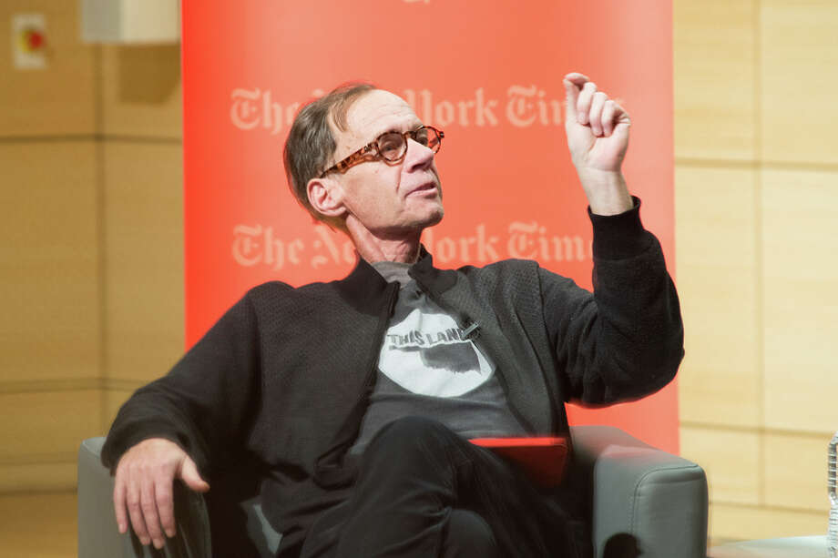 New York Times columnist David Carr attends the TimesTalks at The New School. Soon after, he died in the newsroom. Photo: Mark Sagliocco / Getty Images / 2015 Getty Images