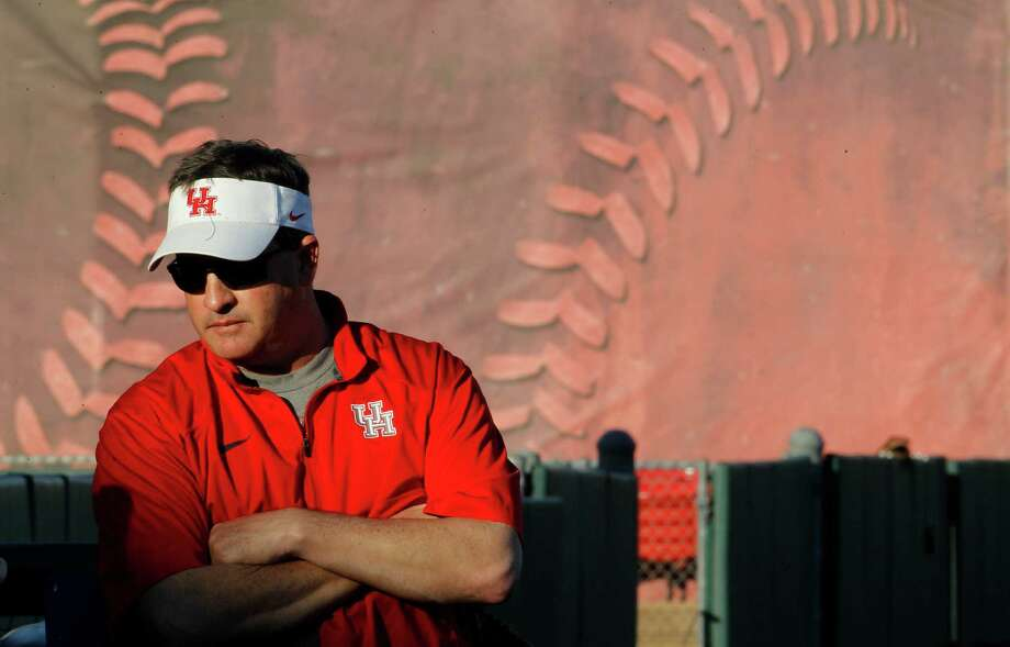 UH head coach Todd Whitting saw his No. 3 Cougars rally for a win over TSU on Wednesday to remain perfect in 2015. Photo: Karen Warren, Staff / © 2015 Houston Chronicle