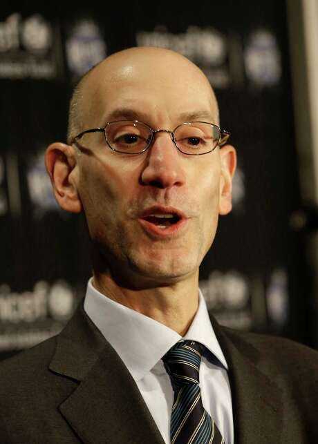National Basketball Commissioner Adam Silver talks to the media before the Golden State Warriors play the Sacramento Kings in an NBA basketball game  in Sacramento, Calif., Tuesday, Feb. 3, 2015.(AP Photo/Rich Pedroncelli) Photo: Rich Pedroncelli, STF / AP
