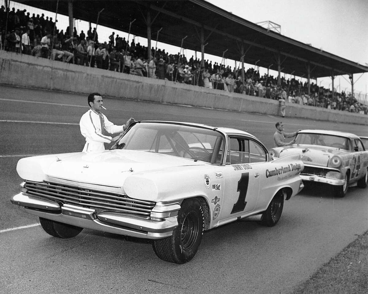 2/15/65: Jimmy Griggs of Donelson, Tennessee, ran this sharp-looking 1960 Dodge owned by Robert Cheek in the NASCAR Modified-Sportsman race at Daytona International Speedway, taking a 16th place finish.