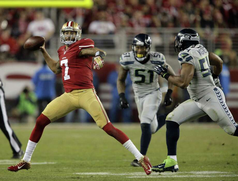 Two games against the Seahawks in 2015 help explain why the 49ers have the third-hardest strength of schedule in the NFL. Photo: Carlos Avila Gonzalez / Carlos Avila Gonzalez / The Chronicle / ONLINE_YES