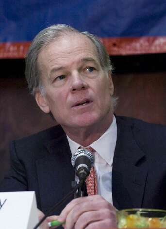 Tom Foley, Republican candidate for governor held the first in a series of meetings to talk in plain and simple language about the challenges facing our state and what he will do as governor to overcome those challenges. Photo: Kathleen O'Rourke / Stamford Advocate
