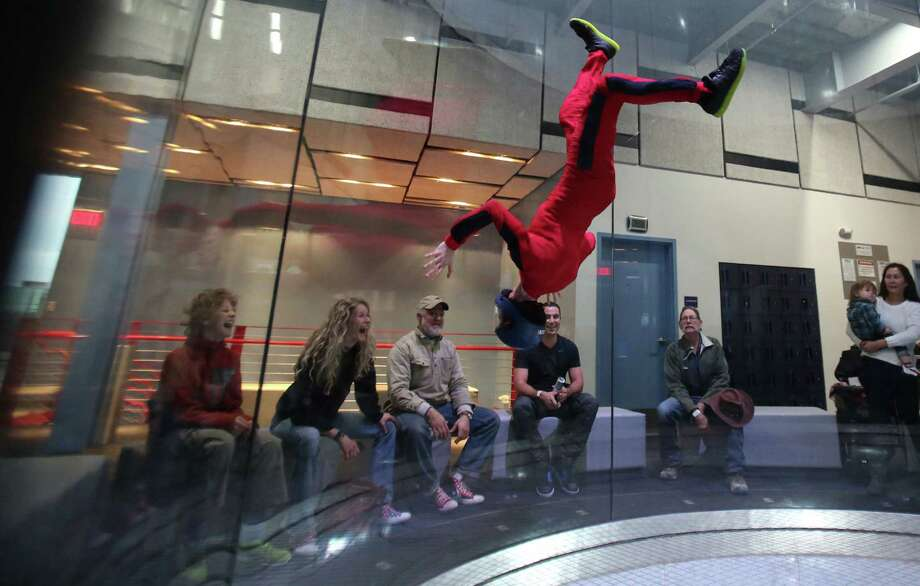 iFLY Indoor SkydivingThe birds may be grounded during the bad weather, but that doesn't mean you have to be, too. Address: 9540 Katy Frwy.Phone: (281) 942-4359Website: houston.iflyworld.com Photo: Mayra Beltran, Staff / © 2015 Houston Chronicle