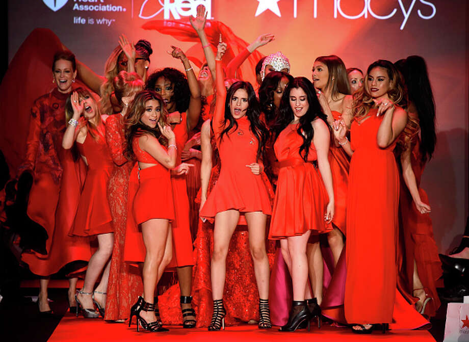 Celebrity models pose on the runway at the Go Red For Women Red Dress Collection 2015 presented by Macy's fashion show during Mercedes-Benz Fashion Week Fall 2015 at The Theatre at Lincoln Center on February 12, 2015 in New York City. Photo: Frazer Harrison, 2015 Getty Images / 2015 Getty Images