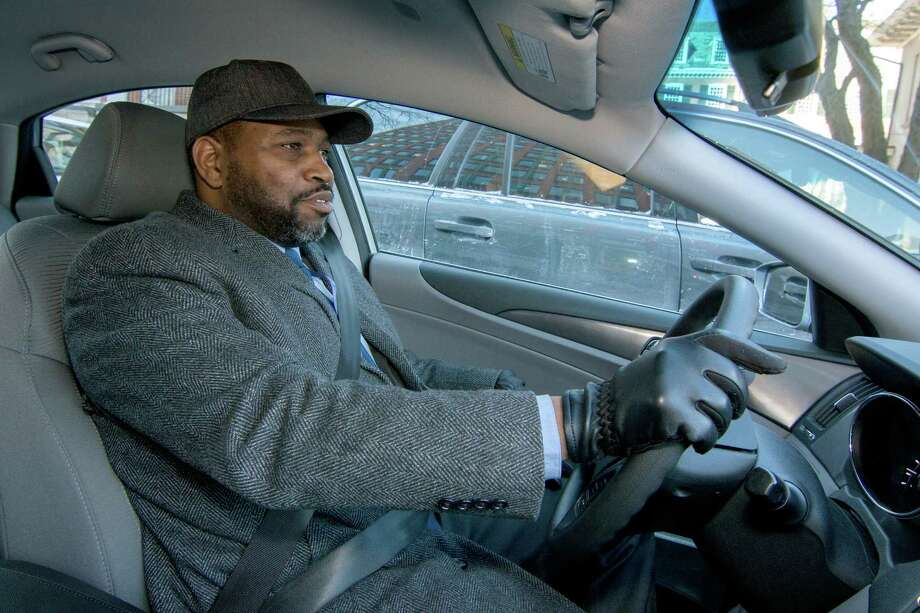 Patrick Hayes, a Navy veteran from Bridgeport, Conn. works for the VA, mainly driving veterans to court appearances. Photo: Tony Bacewicz For C-Hit.org / C-Hit.org Connecticut Post contributed