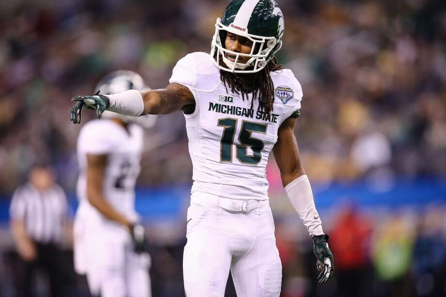 Trae Waynes ESPN's Mel Kiper and Draft Countdown's Scott Wright have the Texans taking the Michigan State cornerback. Photo: Rey Del Rio, Getty Images