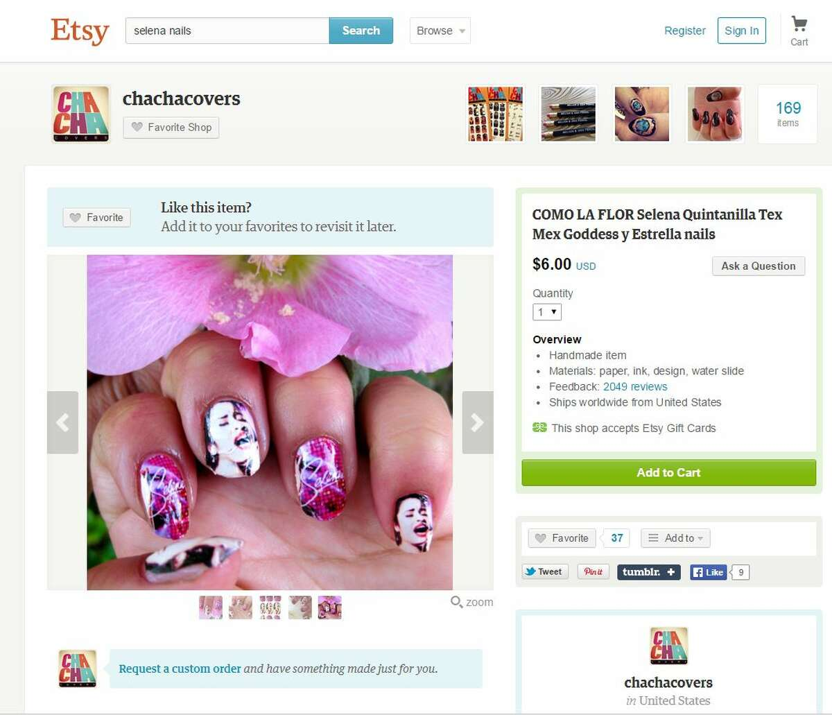 1. You haven't had a mani until you've had a Selena mani. With these nail decals you will surely stand out in a crowd while rocking out to Selena jams at the festival with your hands up. Source: Etsy
